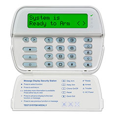 PowerSeries Security System 64-zone LCD Full Message Keypad
